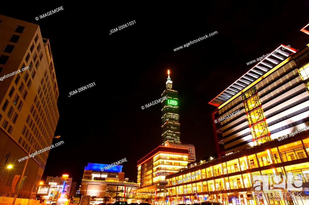 Stock Photo: Taiwan, Taipei, Taipei 101, Xinyi Commercial Center.