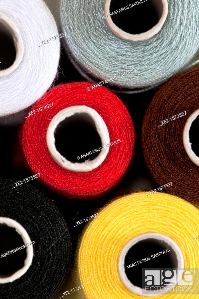 Stock Photo: Sewing threads.