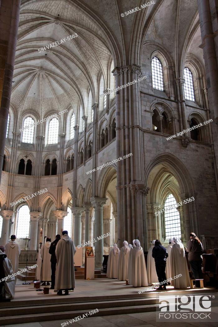 Stock Photo: The Abbey was built between the end of the 11th Century and the end of the 12th Century. The choir was built at the end of the 12th Century in a Gothic style.