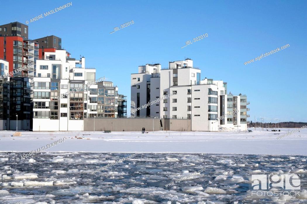 Stock Photo: New apartment buildings.