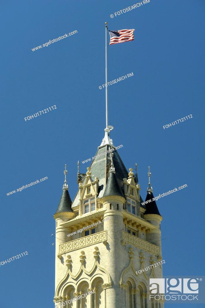 Stock Photo: Spokane, WA, Washington, downtown, Spokane County Courthouse.
