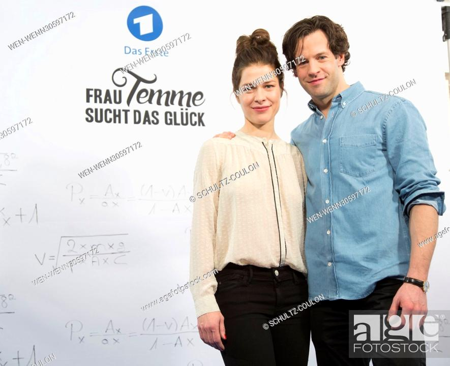 """Stock Photo: Actors promoting the new Series """"""""Frau Temme sucht das Glueck"""""""" at Side Hotel Featuring: Meike Droste, Mikael Svensson Where: Hamburg."""