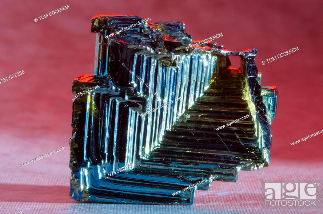 Stock Photo: Bismuth crystal in studio setting.
