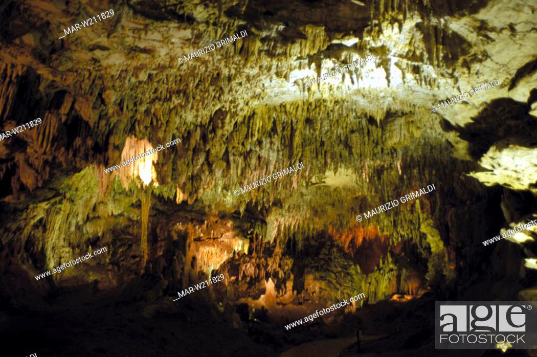 Stock Photo: europe, italy, campania, castelcivita, caves.