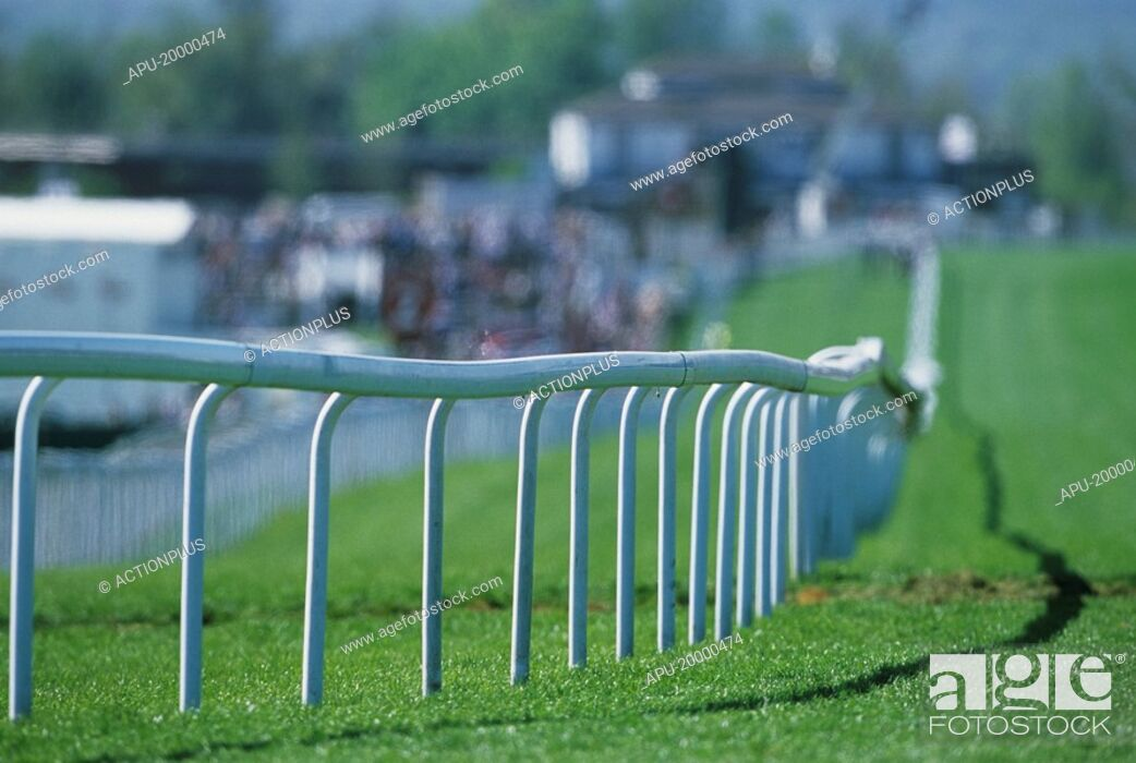 Stock Photo: Close up view of a racecourse.