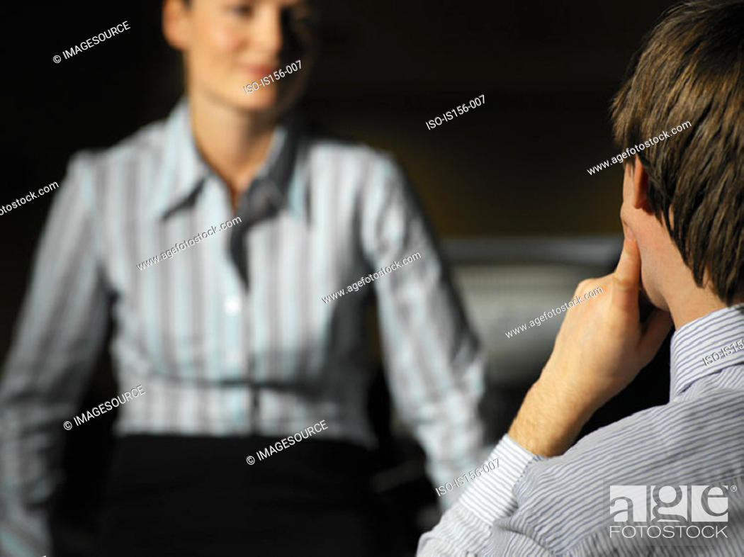 Stock Photo: Colleagues talking.