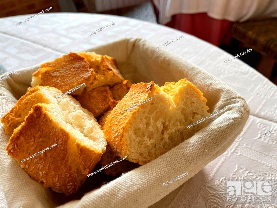 Stock Photo: Basket of bread.