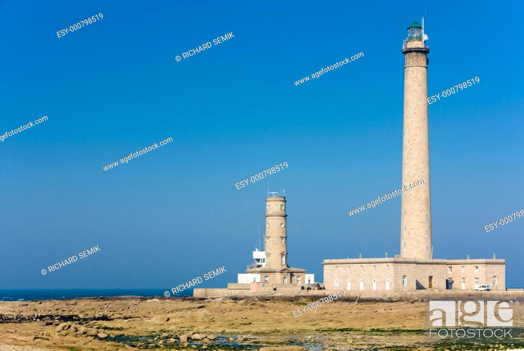 Stock Photo: lighthouses, Gatteville, Normandy, France.