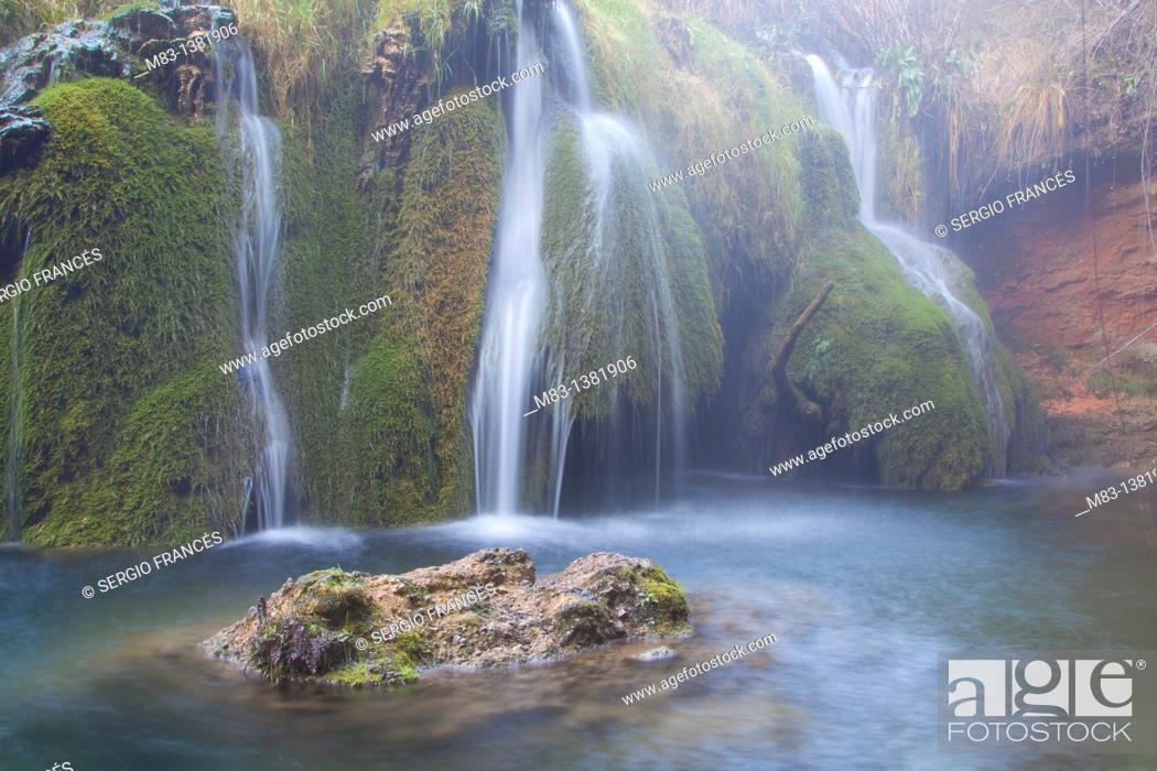 Stock Photo: Cascade in Sierra Mariola natural park.