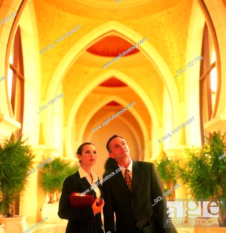 Stock Photo: Businesspeople in the Middle East.