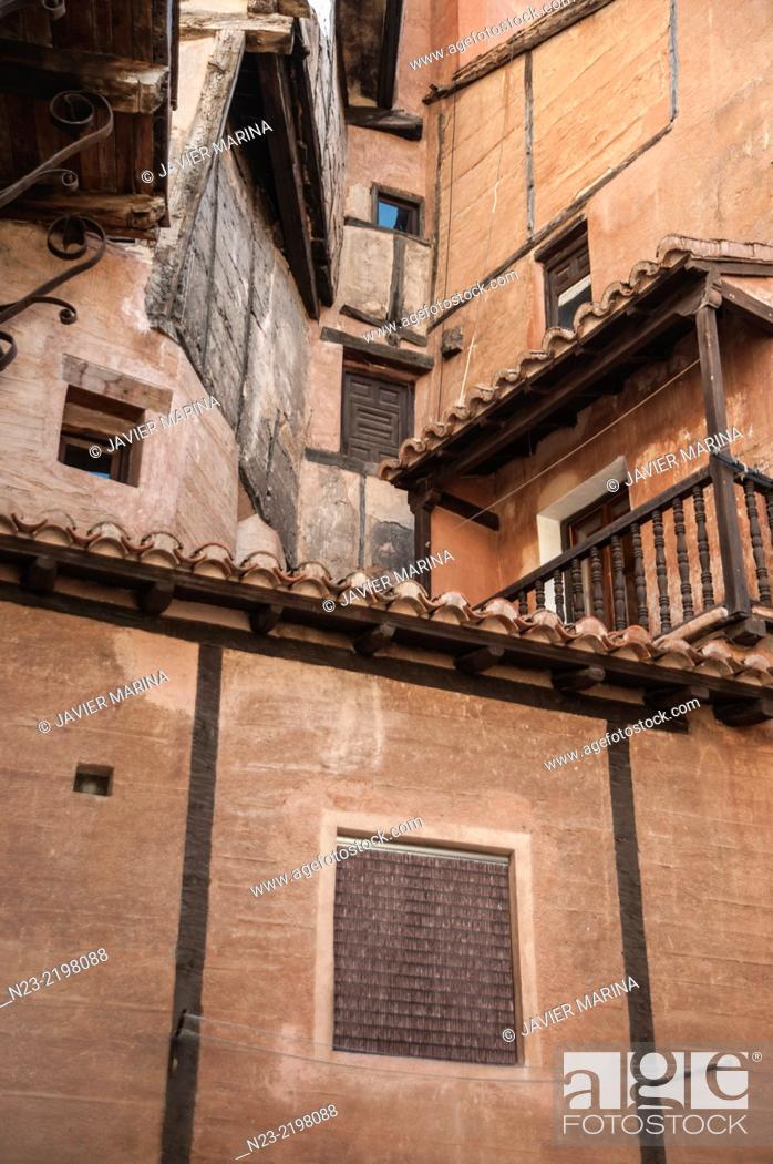 Stock Photo: ALBARRACIN; TERUEL; SPAIN.