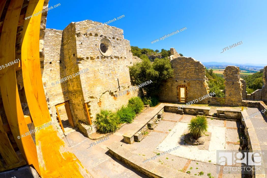 Imagen: Convent and Botanical Garden of Santa Catalina, 14th Century Palace-Convent Ruins, Iruña de Oca, Álava, Basque Country, Spain, Europe, .