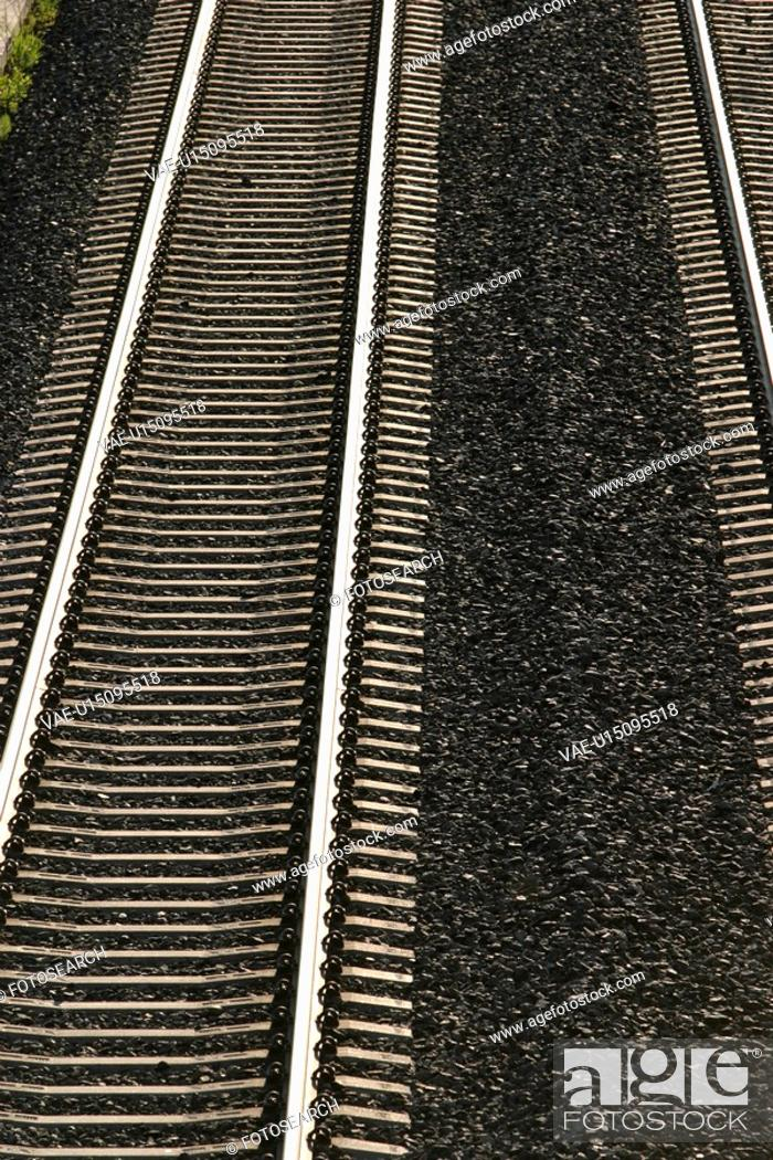 Stock Photo: railroad, track, way, path, pathway, stones.