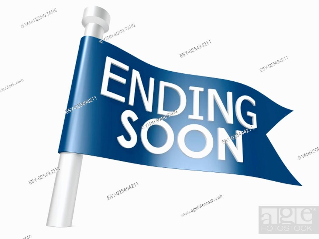 Stock Photo: Ending soon flag.