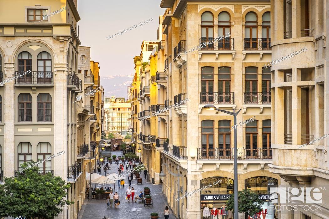 Imagen: El Moutran street, Downtown, Beirut, Lebanon.