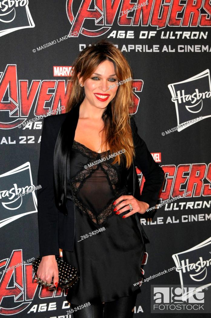 Stock Photo: vittoria schisano ; schisano; actress ; celebrities; 2015;rome; italy;event; red carpet ; avengers, age of ultron.