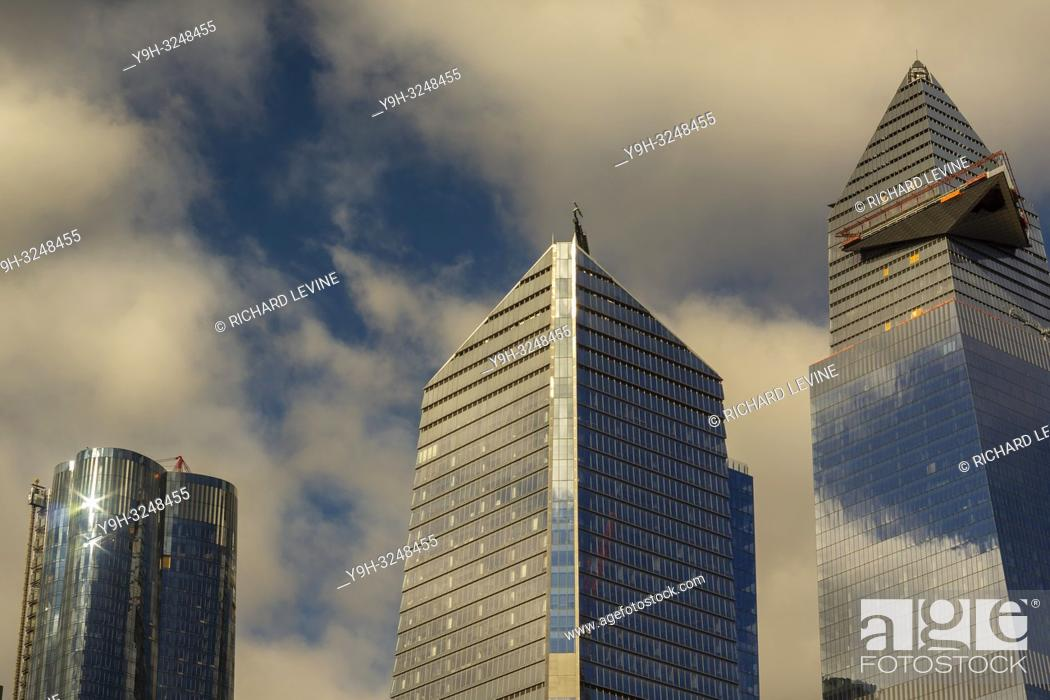 Stock Photo: 10 Hudson Yards, center, 30 Hudson Yards, right, and other development in Hudson Yards in New York on Thursday, November 29, 2018.
