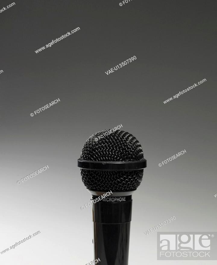 Stock Photo: Microphone.