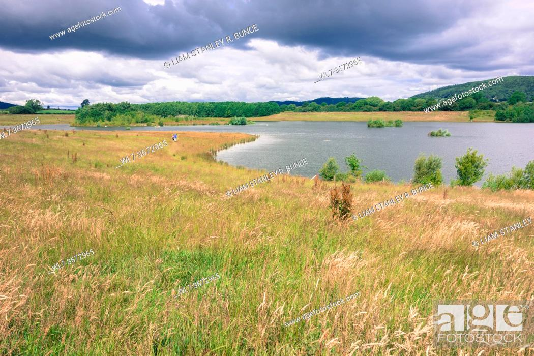 Stock Photo: Brockworth Quarry in the beautiful Herefordshire UK countryside, July 2020.