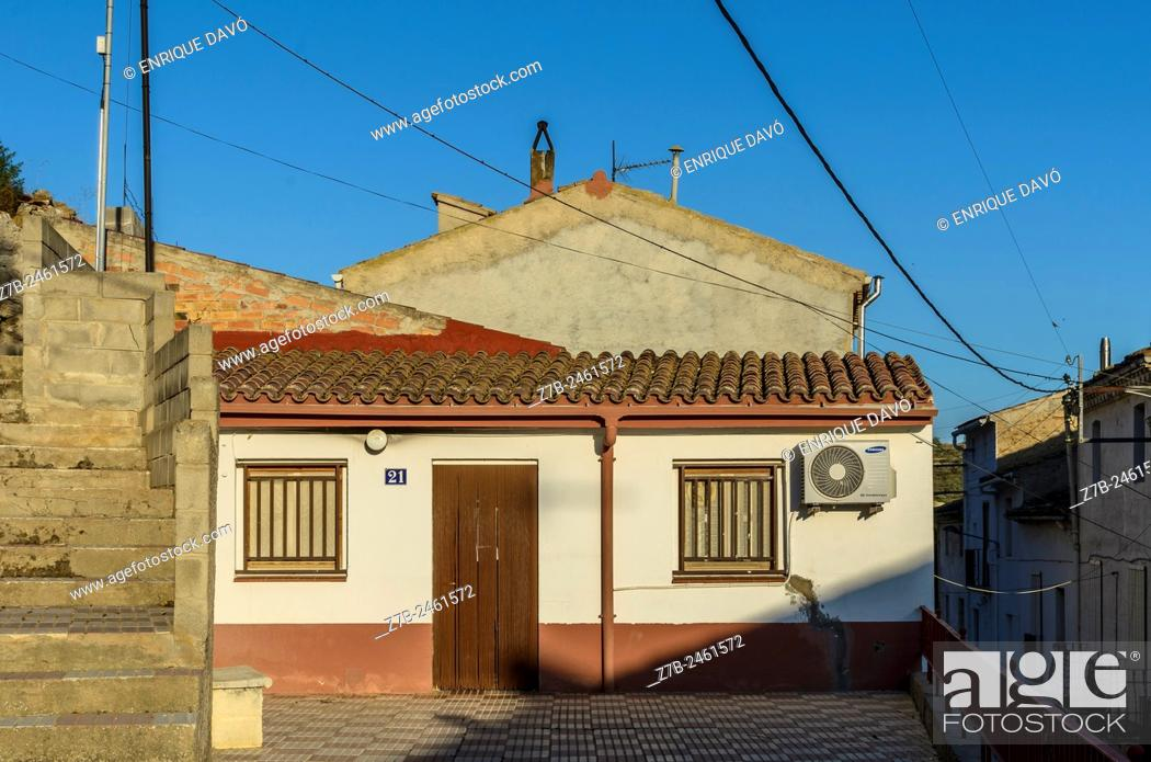 Stock Photo: A rural house view in Sentiu of Sio, Lerida province, Catalonia, Spain.