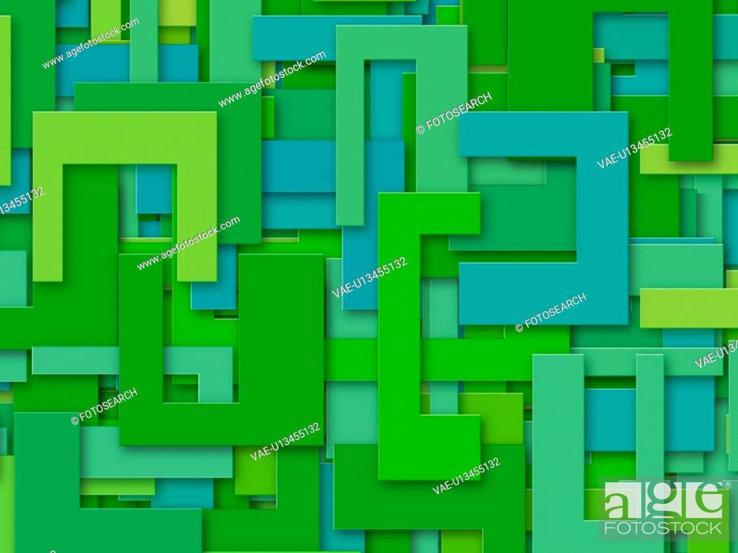 Stock Photo: Green Abstract Shapes.