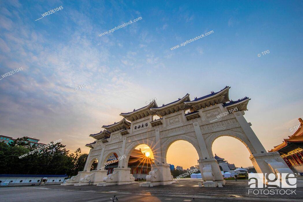 Stock Photo: Chiang Kai-shek Memorial Hall;Taipei;Taiwan.