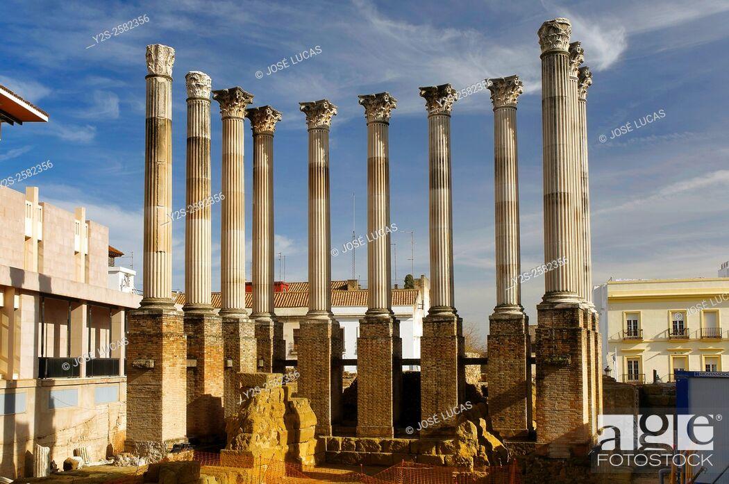 Stock Photo: Roman temple, first century, Cordoba, Region of Andalusia, Spain, Europe.