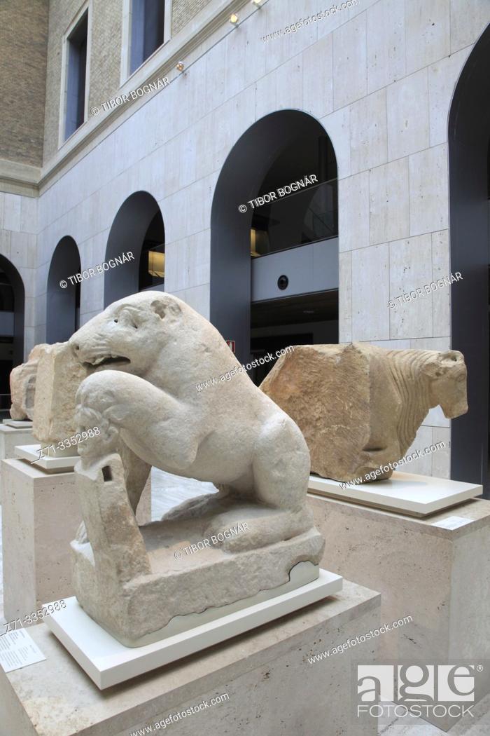 Stock Photo: Spain, Madrid, Archeological Museum, interior,.