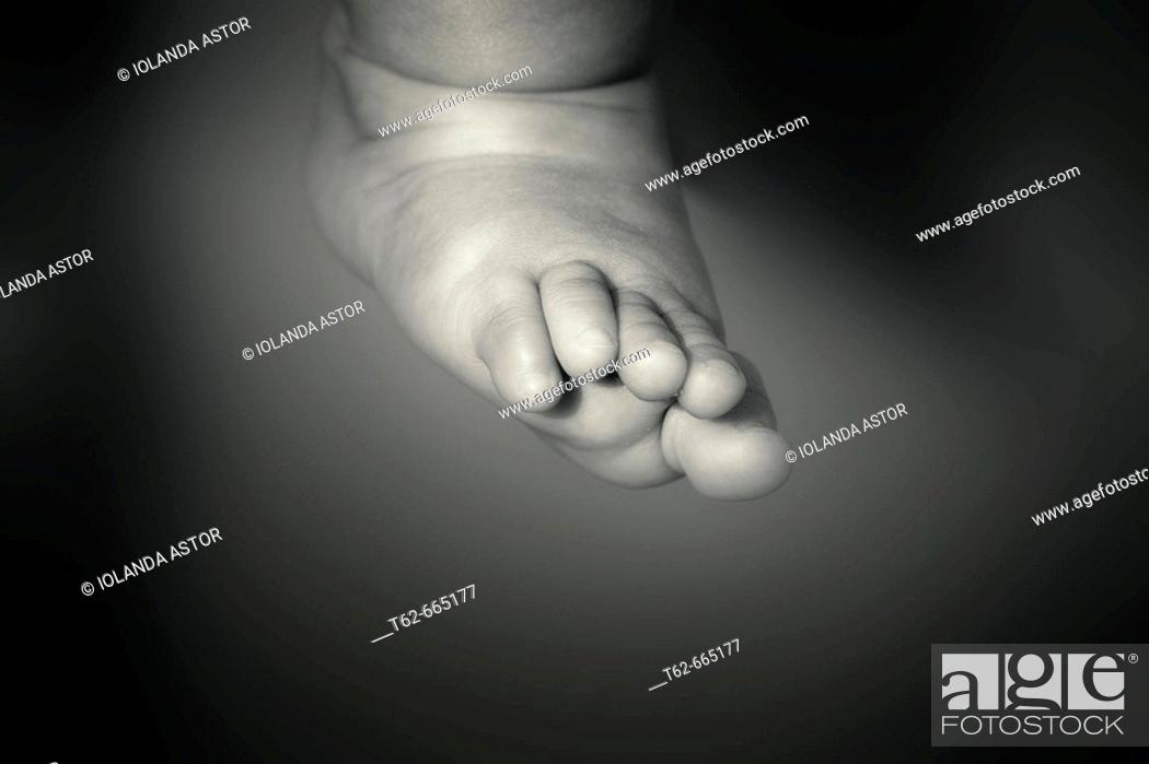 Stock Photo: Baby's foot.