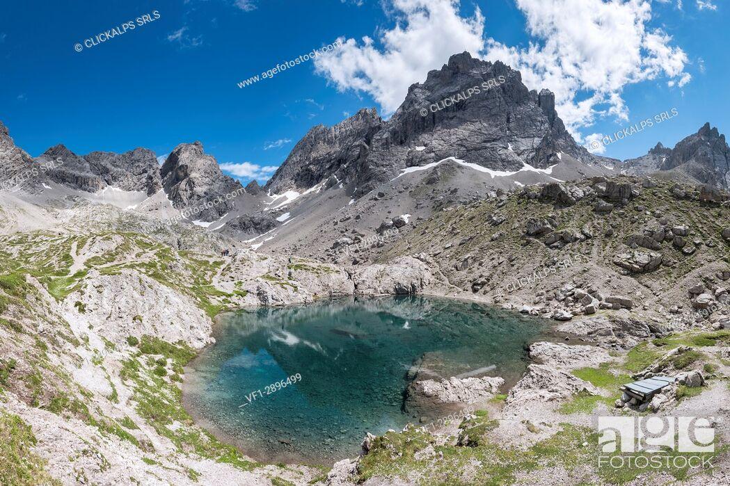 Stock Photo: Lienz Dolomites, East Tyrol, Austria. The Lake Laserz.