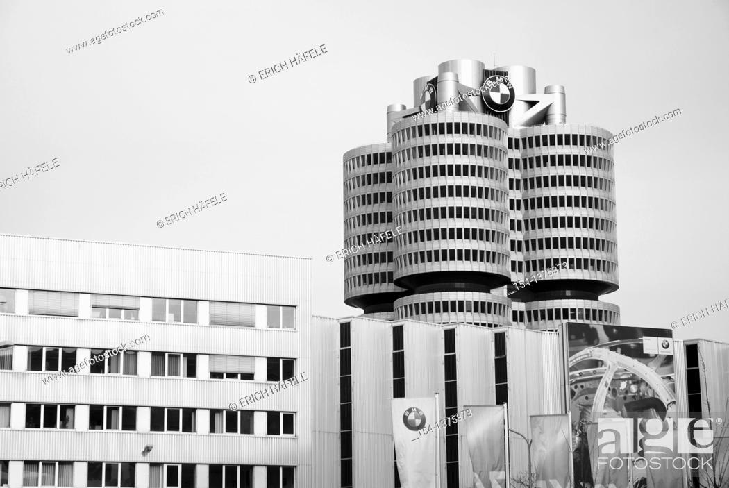 Stock Photo: Headoffice of BMW in Munich.