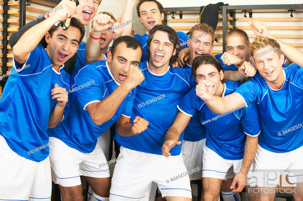 Stock Photo: Football team.
