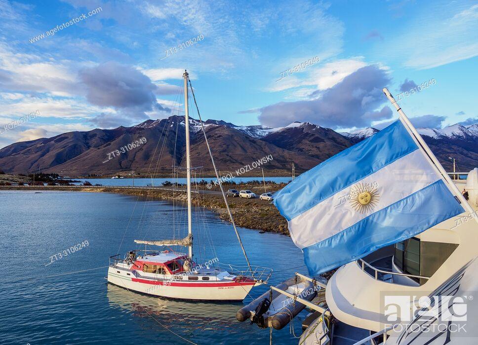 Stock Photo: Puerto Punta Bandera, Santa Cruz Province, Patagonia, Argentina.