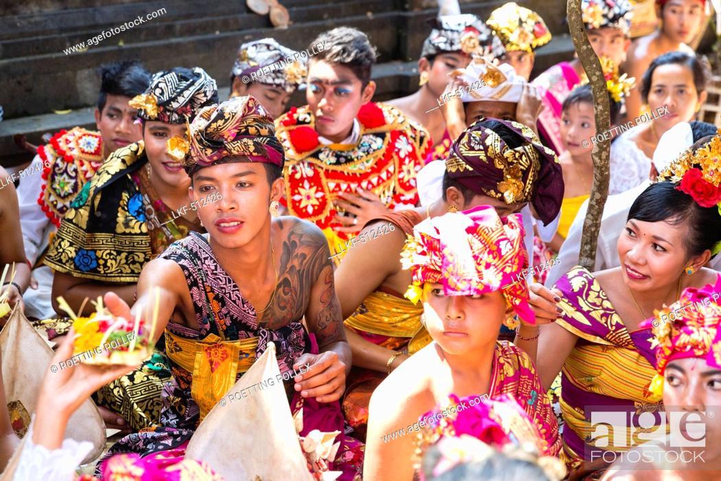 Balinese People Odalan Temple Festival Sidemen Karangasem