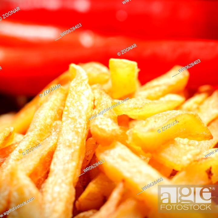 Stock Photo: Potatoes and chili.