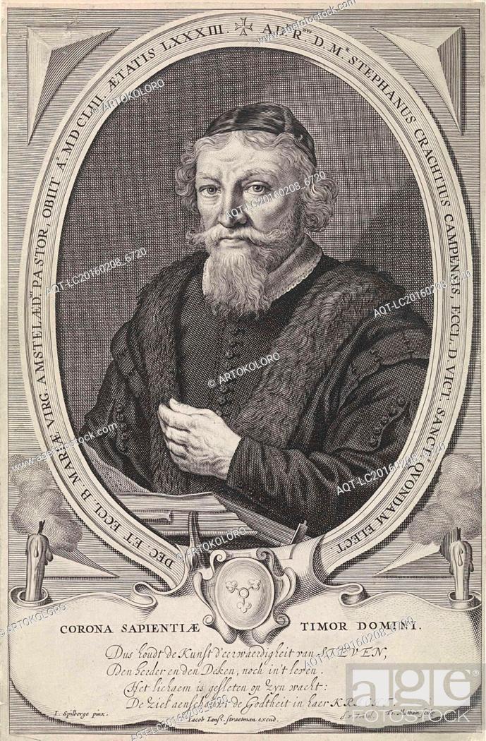 Portrait Of Stephan Crachtius Theodor Matham Joost Van Den