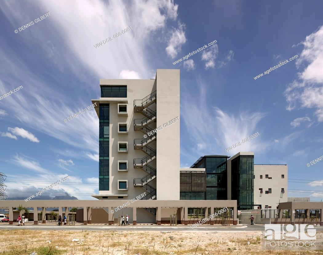 Stock Photo: Public Transport Shared Service Centre Makeka Design Lab Cape Town South Africa 2010 Exterior elevation, MAKEKA DESIGN LAB, SOUTH AFRICA, Architect.