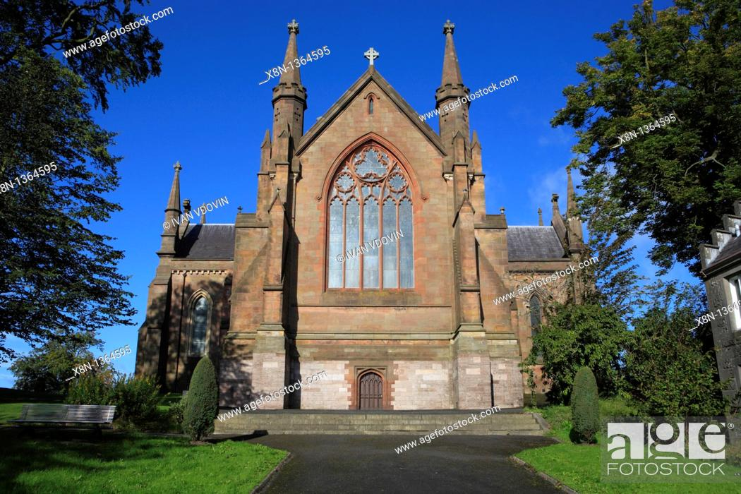 Stock Photo: St  Patrick Roman Catholic cathedral 1840-1904, Armagh, Northern Ireland.