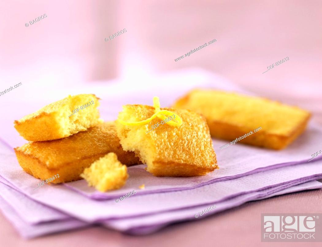 Stock Photo: almond sponge fingers.