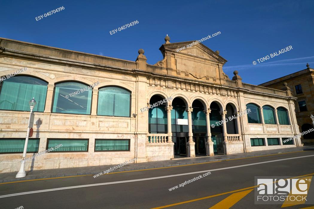 Stock Photo: Gijon old fish market in Asturias Spain.