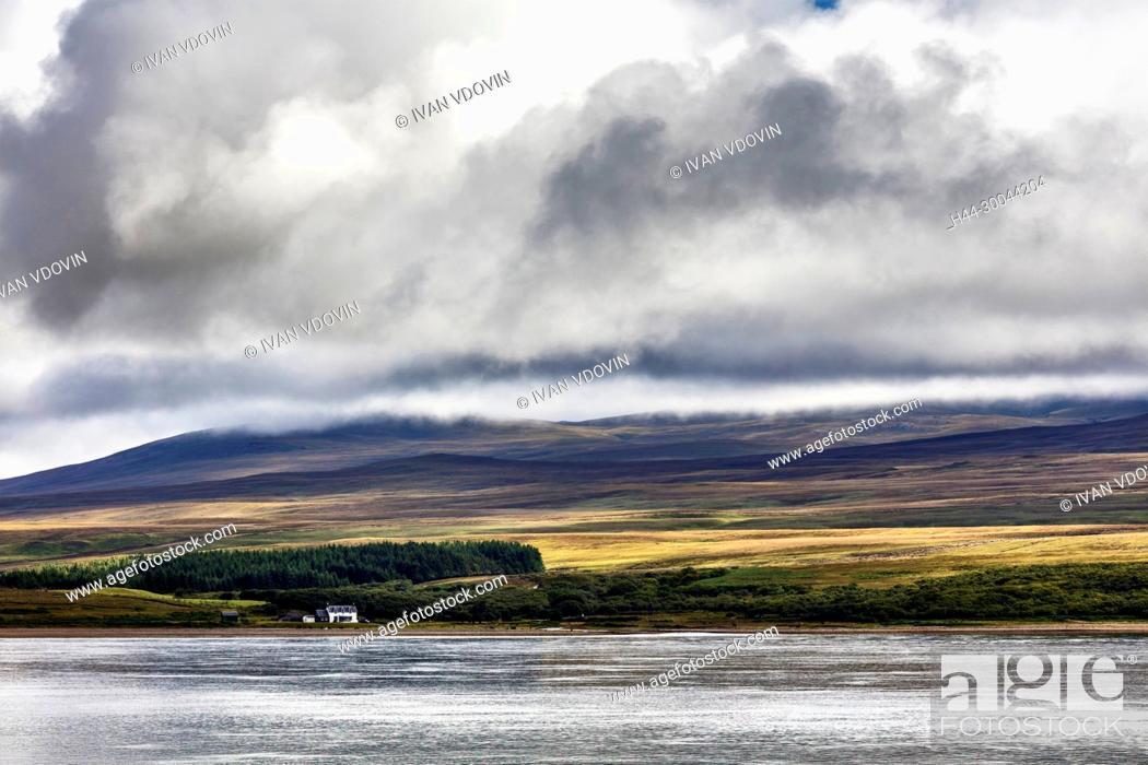 Stock Photo: View of Jura island, Seascape, Islay, Inner Hebrides, Argyll, Scotland, UK.