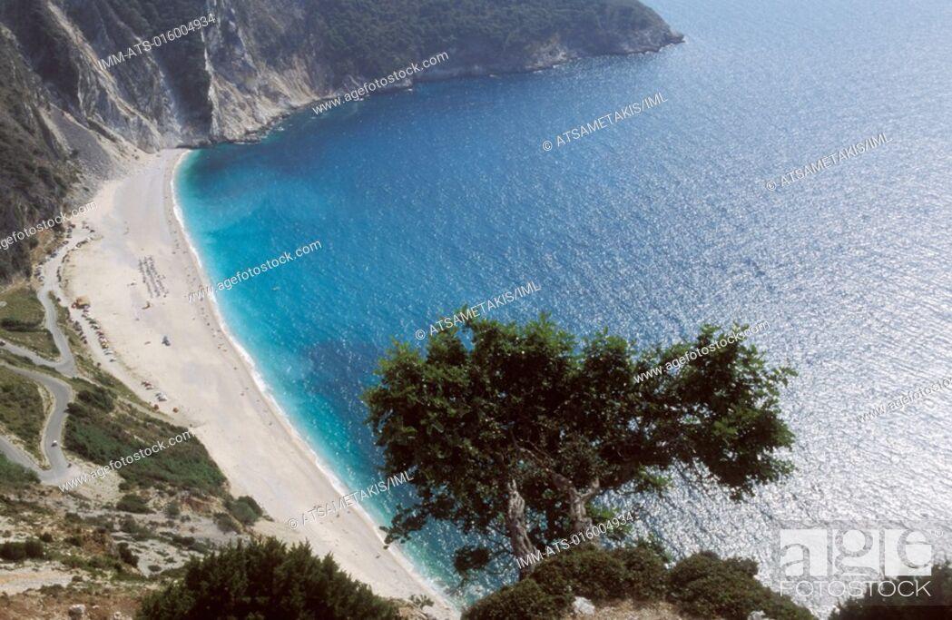 Stock Photo: Myrtos Beach Kefallonia, Ionian Islands, Greece.