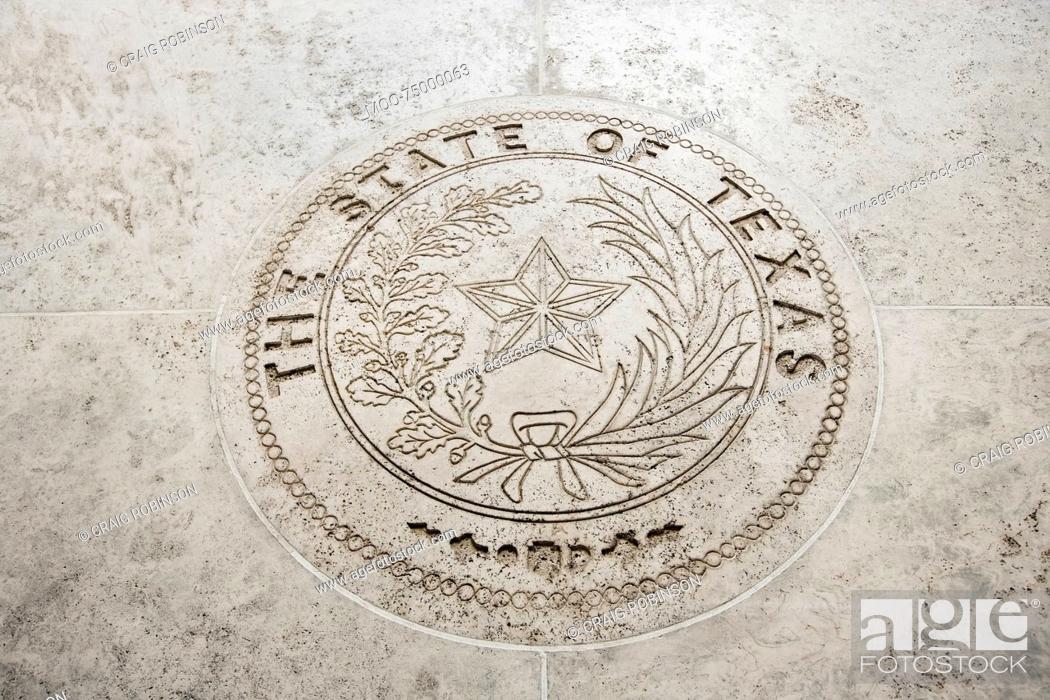 Stock Photo: Seal Of Texas in Fort Bonifacio, Manila, Philippines.