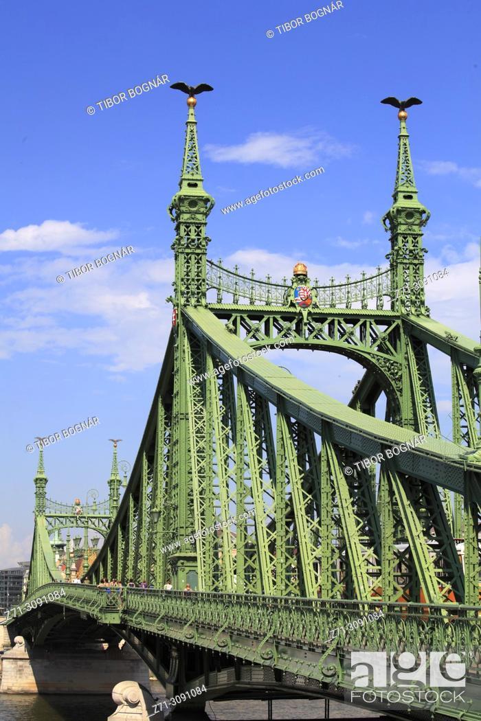 Imagen: Hungary, Budapest, Freedom Bridge, Szabadság Híd, .