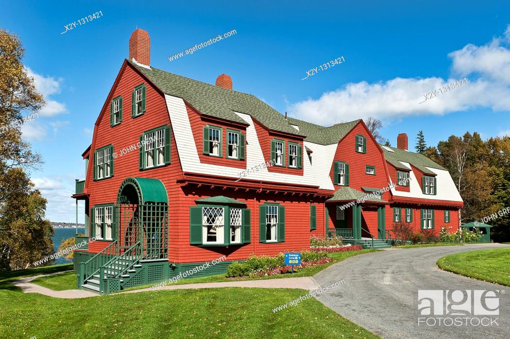 Stock Photo: Roosevelt summer cottage museum, Campobello, New Brunswick, Canada.
