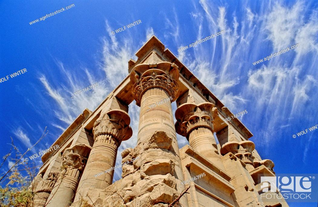 Stock Photo: Temple of Isis, Philae, Egypt.