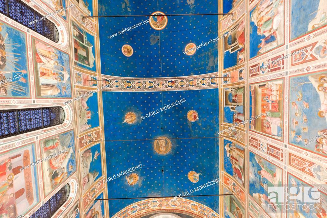 Stock Photo: Giotto frescoes in the Scrovegni Chapel, or Cappella degli Scrovegni, a church in Padua, Veneto, Italy.