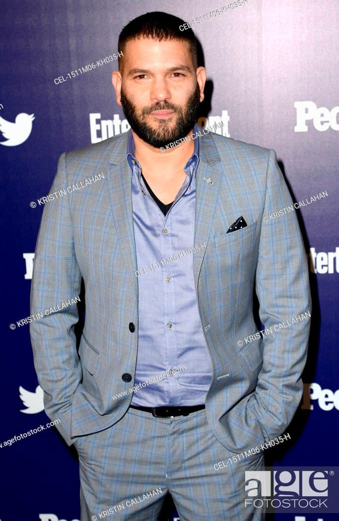 Stock Photo: Guillermo Diaz at arrivals for Entertainment Weekly and People Upfronts Party, The High Line Hotel, New York, NY May 11, 2015.