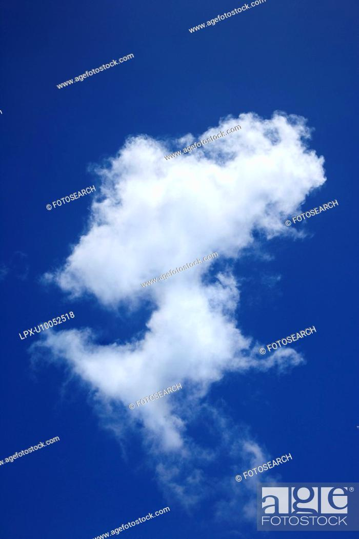 Stock Photo: Cloud formation against blue sky.