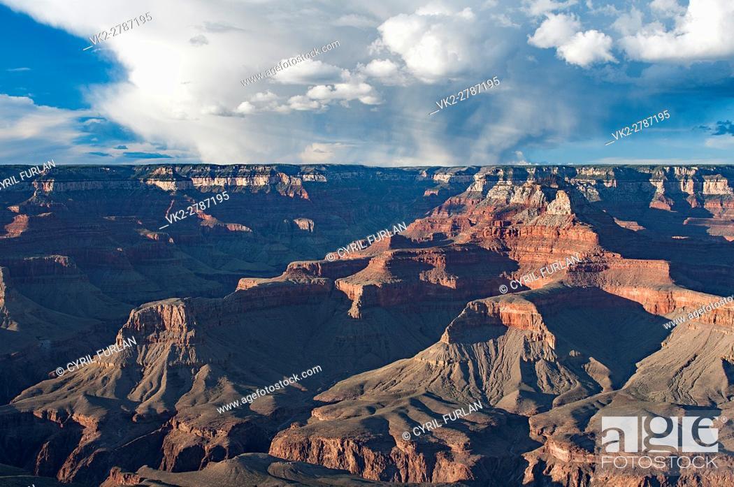 Stock Photo: Yaki Point Evening Light, South Rim Grand Canyon, .